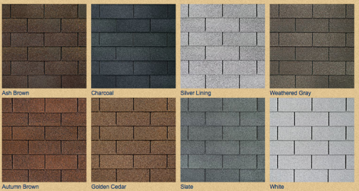 These Are Roofing Shingle Colors We Offer Insurance
